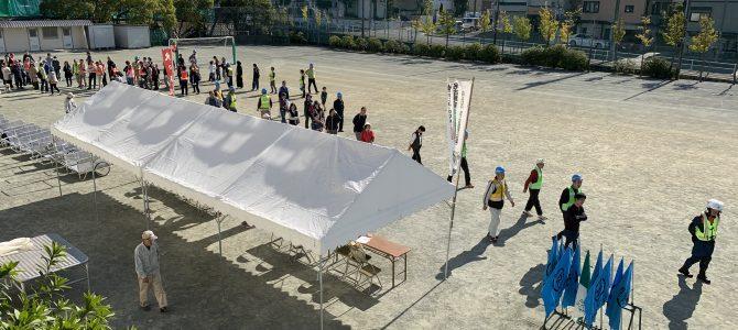 恒例の学区の自主防災訓練へ参加しました。